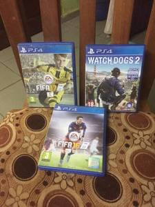 Fifa 16 fifa 17 fifa 18 Watch dogs 2