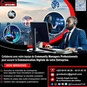 BESOIN D'UN COMMUNITY MANAGER ?